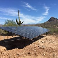 11Kw Ground Mounted solar array New River